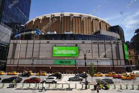 Hi A view of the Madison Square Garden as New York City continues Phase 4 of re-opening following restrictions imposed to slow the spread of coronavirus on August 20, 2020 in New York City. The fourth phase allows outdoor arts and entertainment, sporting events without fans and media production.