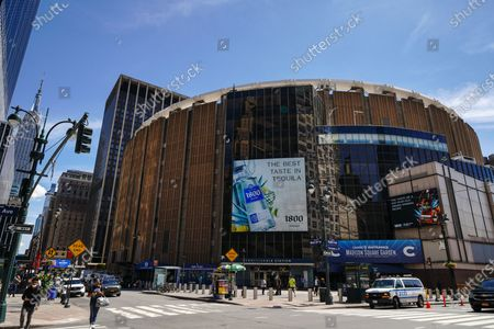 A view of the Madison Square Garden as New York City continues Phase 4 of re-opening following restrictions imposed to slow the spread of coronavirus on August 20, 2020 in New York City. The fourth phase allows outdoor arts and entertainment, sporting events without fans and media production.