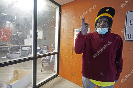 Eddie Green, 62, of Jackson, says he was encouraged to take shelter at the Johnnie Champion Community Center in Jackson, Miss., after his residence lost power following winter storms