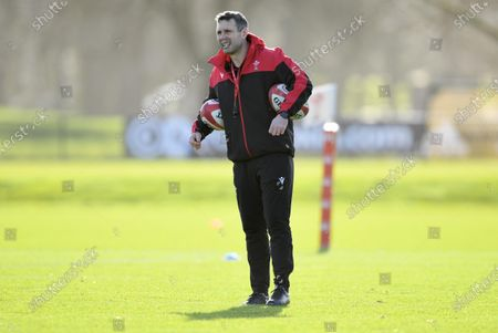 Editorial photo of Wales Rugby Training - 18 Feb 2021
