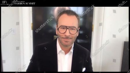 Stock Image of Fireside chat with Fashion Designer, Filmmaker, and Chairman of the CFDA, Tom Ford.