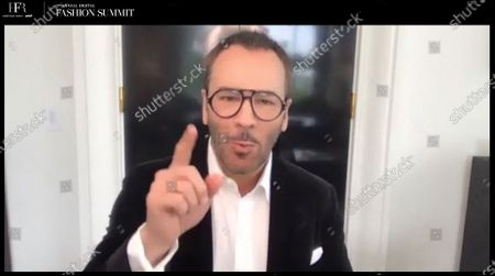 Stock Picture of Fireside chat with Fashion Designer, Filmmaker, and Chairman of the CFDA, Tom Ford.