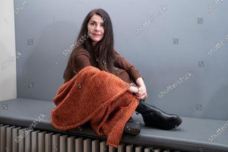 Actress Ana Fernandez, poses during the promotion show of El Grito at Teatro Fernán Gómez Centro Cultural de la Villa