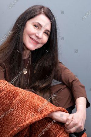 Stock Picture of Actress Ana Fernandez, poses during the promotion show of El Grito at Teatro Fernán Gómez Centro Cultural de la Villa