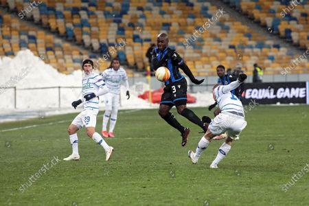 Editorial photo of Dynamo vs Club Brugge in UEL Round of 32 game in Kyiv, Ukraine - 18 Feb 2021