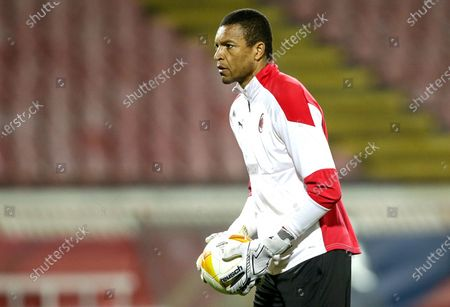 Milan's Brazilian goalkeeping coach Dida prior to the UEFA Europa League round of 32, first leg soccer match between Red Star Belgrade and AC Milan in Belgrade, Serbia, 18 February 2021.