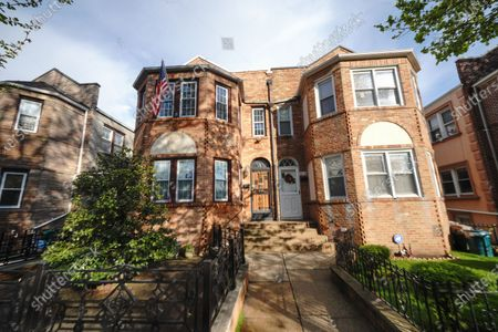 Stock Picture of A view of the Costanza House made famous by Frank Costanza played by Jerry Stiller, the Astoria home was used in the sitcom 'Seinfield'  on May 11, 2020 in  New York City. Jerry Stiller, veteran comic and Ben's father, has died at 92