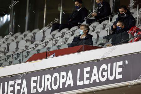 Ajax general director Edwin van der Sar, Ajax technical director Marc Overmars