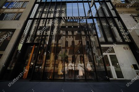 A view of Valentino Boutique during the coronavirus pandemic on May 20, 2020 in 5th Ave., New York City. COVID-19 has spread to most countries around the world, claiming over 316,000 lives with over 4.8 million infections reported.