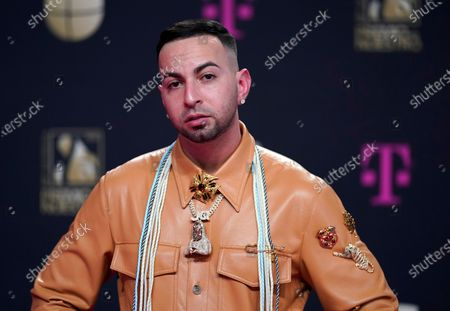 Stock Photo of Justin Quiles arrives at Premio Lo Nuestro at American Airlines Arena, in Miami