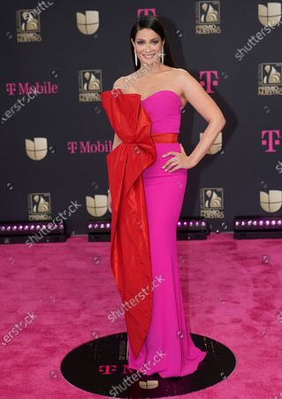 Stock Photo of Dayanara Torres arrives at Premio Lo Nuestro at American Airlines Arena, in Miami