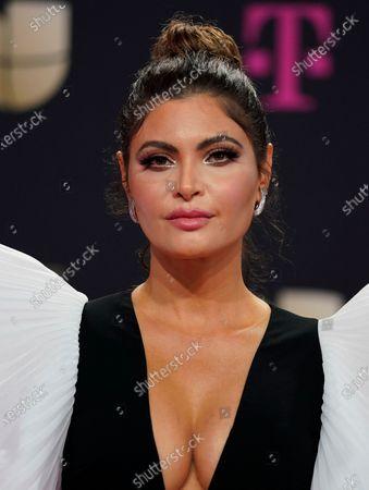 Chiquinquira Delgado arrives at Premio Lo Nuestro at American Airlines Arena, in Miami