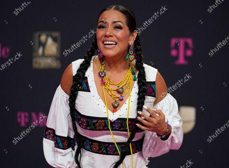 Lila Downs arrives at Premio Lo Nuestro at American Airlines Arena, in Miami