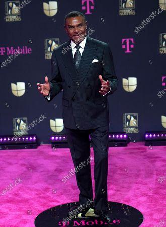 """Stock Photo of Jose Alberto """"El Canario"""" arrives at Premio Lo Nuestro at American Airlines Arena, in Miami"""