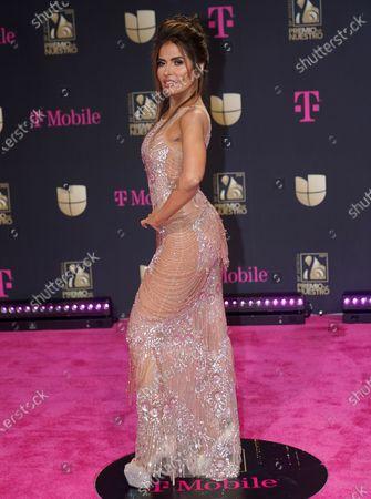 Gloria Trevi arrives at Premio Lo Nuestro at American Airlines Arena, in Miami