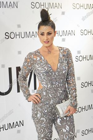 Stock Photo of Barei attends to 'Relieve' by Sohuman photocall at White Lab gallery