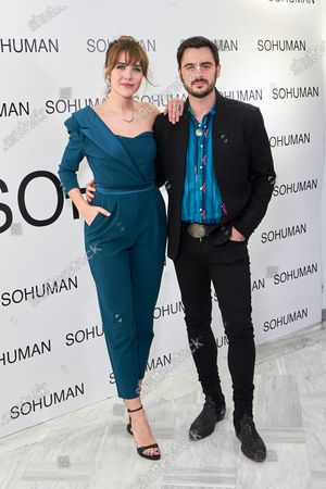 Stock Picture of Andrea Guasch and Ruben Tajuelo attend to 'Relieve' by Sohuman photocall  at White Lab gallery