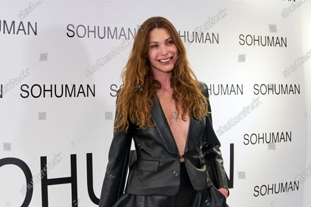 Cristina Piaget attends to 'Relieve' by Sohuman photocall at White Lab gallery