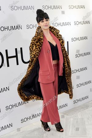 Sara Vega attends to 'Relieve' by Sohuman photocall at White Lab gallery