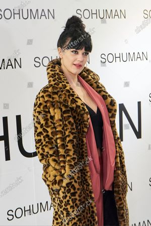 Stock Photo of Sara Vega attends to 'Relieve' by Sohuman photocall at White Lab gallery