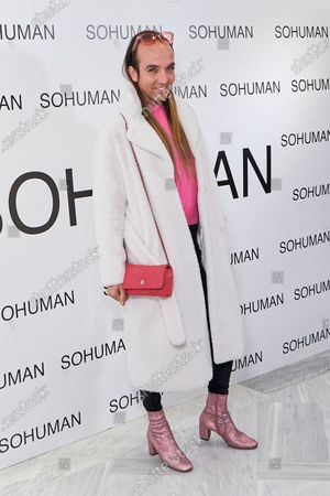 Stock Photo of Aless Gibaja attends to 'Relieve' by Sohuman photocall at White Lab gallery