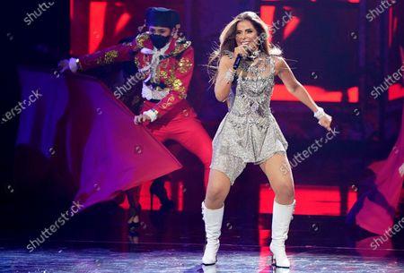 Gloria Trevi performs at Premio Lo Nuestro at American Airlines Arena, in Miami