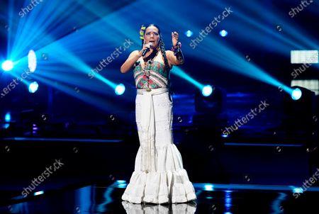 Lila Downs performs a tribute to Armando Manzanero at Premio Lo Nuestro at American Airlines Arena, in Miami