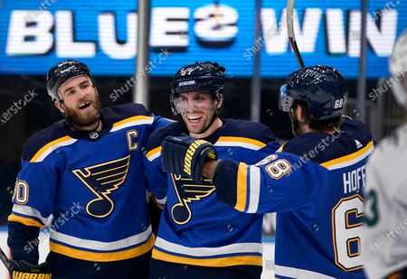 Editorial picture of Sharks Blues Hockey, St. Louis, United States - 18 Feb 2021