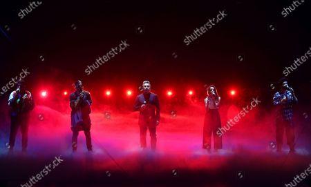 Editorial photo of 2021 Premio Lo Nuestro - Show, Miami, United States - 14 Feb 2021