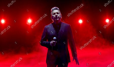 Ricardo Montaner performs at Premio Lo Nuestro at American Airlines Arena, in Miami. The award show airs on Feb. 18 with both live and prerecorded segments