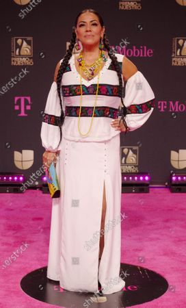 Lila Downs walks the red carpet at the 33 edition of Univision 2021 Premio Lo Nuestro award show