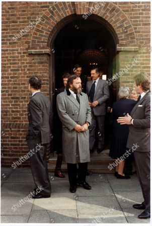 Stock Photo of Hon. Robert Hesketh (died February 1997) Bobby Hesketh Younger Brother Of 3rd Baron Hesketh Pictured At The Funeral Of Millionaire David Towill In Chelsea.