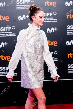 Raffey Cassidy attends the 'The Other Lamb' Premiere during the 67th San Sebastian Film Festival in the northern Spanish Basque city of San Sebastian on September 23, 2019. (Photo by Manuel Romano/NurPhoto)