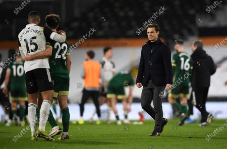 Fulham manager Scott Parker at full time