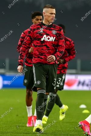 Eric Bailly of Manchester Utd. FC during the first leg of round of 32 of UEFA Europa League between Real Sociedad and Manchester United FC at Juventus Stadium on February 18, 2021 in Turin, Italy.Real Sociedad lost 0-4 over Manchester United. (Photo by Massimiliano Ferraro/NurPhoto)