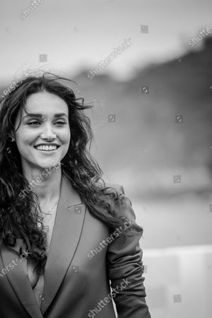 (EDITOR'S NOTE: Image was converted to black and white) Debora Nascimento attends the 'Pacificado (Pacified)' Photocall during the 67th San Sebastian Film Festival in the northern Spanish Basque city of San Sebastian on September 24, 2019. (Photo by Manuel Romano/NurPhoto)