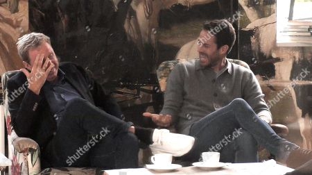 Stock Photo of I'm A Celebrity - Get Out Of Me Ear!: Harry Redknapp and Jamie Redknapp.