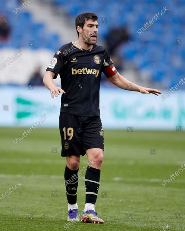 Stock Picture of Manuel Alejandro Garcia of Deportivo Alaves reacts during the La Liga match between Real Sociedad CF and Deportivo Alaves at Reale Arena on February 21, 2021 in San Sebastian, Spain.