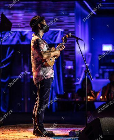 Editorial picture of Jake Shimabukuro in concert, The Blue Note Hawaii, The Outrigger Waikiki Resort, Honolulu, Hawaii - 18 Feb 2021
