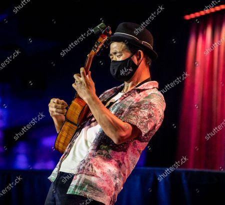 Editorial image of Jake Shimabukuro in concert, The Blue Note Hawaii, The Outrigger Waikiki Resort, Honolulu, Hawaii - 18 Feb 2021