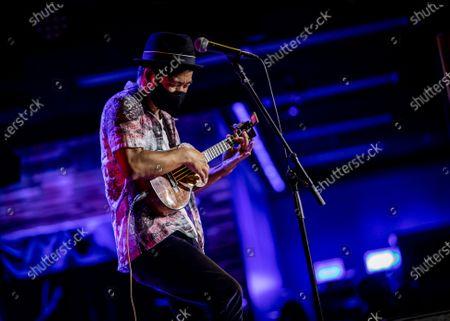 Editorial photo of Jake Shimabukuro in concert, The Blue Note Hawaii, The Outrigger Waikiki Resort, Honolulu, Hawaii - 18 Feb 2021