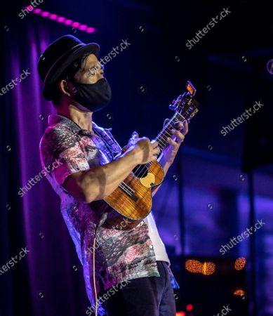 Stock Image of Jake Shimabukuro performs at The Blue Note Hawaii at The Outrigger Waikiki Resort in Honolulu