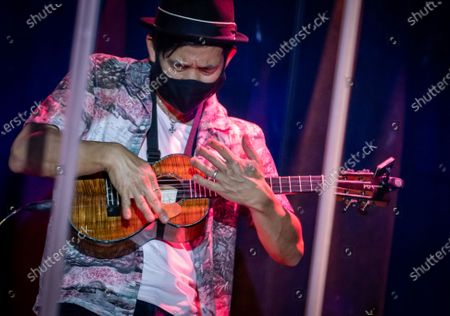 Stock Picture of Jake Shimabukuro performs at The Blue Note Hawaii at The Outrigger Waikiki Resort in Honolulu