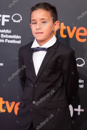 Stock Image of Alex Monner attends the 'La Hija De Un Ladron (A Thief's Daughter)' Premiere during the 67th San Sebastian Film Festival in the northern Spanish Basque city of San Sebastian on September 25, 2019. (Photo by Manuel Romano/NurPhoto)