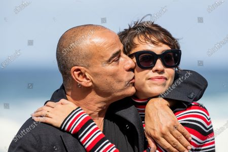 Actor Eduard Fernandez and actress Greta Fernandez attend attend the 'La Hija De Un Ladron (A Thief's Daughter)' Photocall during the 67th San Sebastian Film Festival in the northern Spanish Basque city of San Sebastian on September 25, 2019. (Photo by Manuel Romano/NurPhoto)