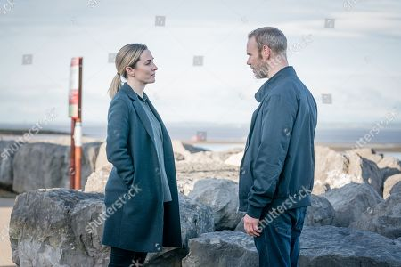Morven Christie as DC Lisa Armstrong and Joe Absolom as Andy Warren