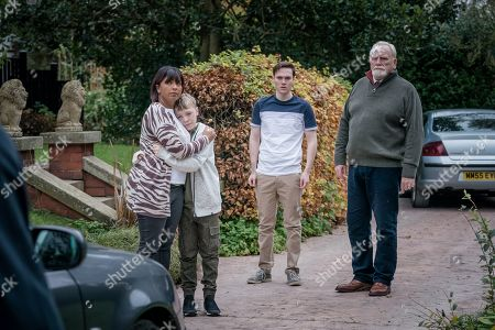 Sunetra Sarker as Stella Bradwell, Leo Ashton as Oliver Marshbrook, Jack Archer as Jamie Marshbrook and James Cosmo as Bill Bradwell