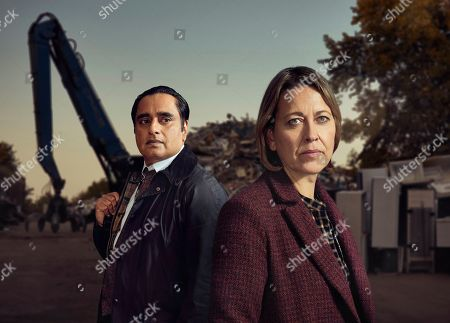 Nicola Walker as DCI Cassie Stuart and Sanjeev Bhaskar as DI Sunny Khan.