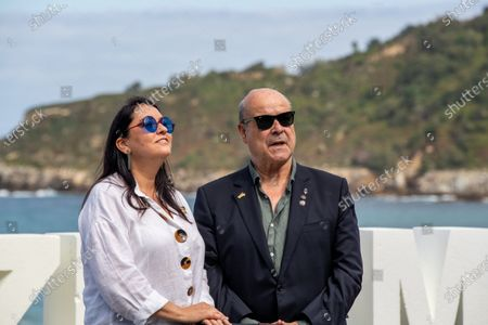 Ana Perez-Lorente (L) and Antonio Resines attend the 'Historias De Nuetro Cine (Stories of Our Cinema)' Photocall during the 67th San Sebastian Film Festival in the northern Spanish Basque city of San Sebastian on September 24, 2019. (Photo by Manuel Romano/NurPhoto)