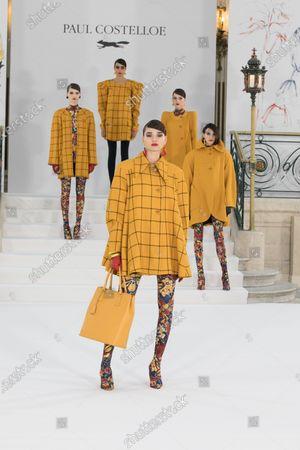 Editorial picture of Paul Costelloe show, Runway, Autumn Winter 2021, London Fashion Week, UK - 19 Feb 2021